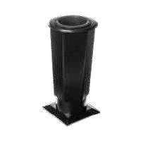 Hřbitovní váza Tr-V3 černá