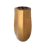 Hřbitovní váza V53-5-26P bronzová